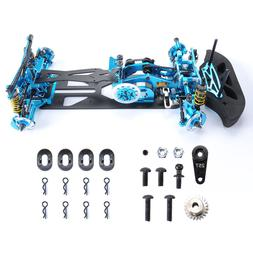 1:10 RC 4WD G4 Carbon Fiber Drift Racing Chassis Frame Alloy
