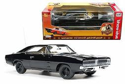 """AUTO WORLD 1:18 1969 DODGE CHARGER GENERAL LEE """"HAPPY BIRTHD"""