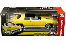 Auto World 1:18 American Muscle 1971 Plymouth GTX Diecast Ca