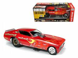 AUTO WORLD 1:18 RAMBUNCTIOUS 1971 DODGE CHARGER NHRA FUNNY C