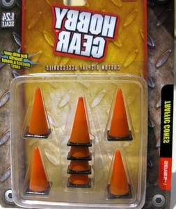 Hobby Gear 1/24 - 1/18 Traffic Cones Set of 8 Great For Dior
