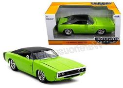 New 1:24 W/B BIG TIME MUSCLE - GREEN 1970 DODGE CHARGER R/T