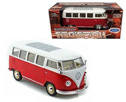 New 1:24 W/B WELLY COLLECTION - RED WHITE 1962 VOLKSWAGEN CL