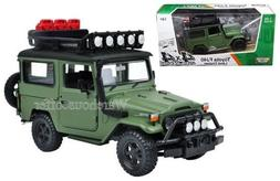 New 1:24 W/B MOTOR MAX COLLECTION - GREEN 4X4 OVERLANDERS TO