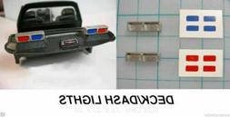 1/43 - 1/24 Deck / Dash Lights For Model Police Cars DOUBLE