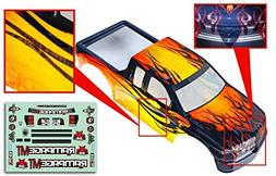 Redcat Racing 1/5 Truck Body, Yellow with Black Flames