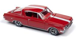 Auto World 1/64 1964 Plymouth Barracuda Ruby Red Die-Cast Ca