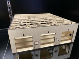 1/64 3 Bay Automotive Garage Warehouse Shop for Cars and Tru