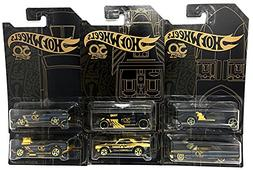 New 1:64 Hot Wheels 50th Anniversary Black & Gold Collection