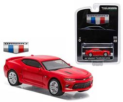 New 1:64 GREENLIGHT COLLECTION - RED 2016 CHEVROLET CAMARO S