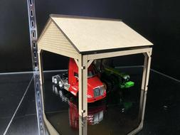 1/64 Equipment Shed for Cars Trucks Semis Tractors Trailers