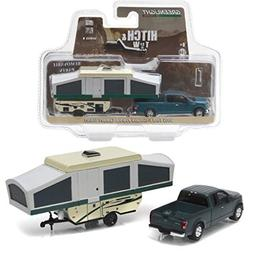 New 1:64 HITCH & TOW SERIES 8 - GREEN 2015 FORD F-150 WITH P