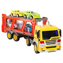 Liberty Imports 2-in-1 Friction Powered Car Carrier Truck 1: