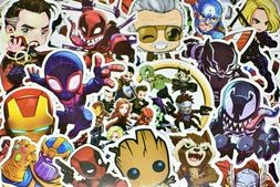 100 Superhero Video Game Anime Stickers Pack for Hydro Flask