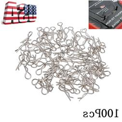 100pcs Stainless Steel Body Shell Clips Pin for RC 1/10 Mode