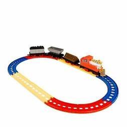 12-Piece Railroad Train Set Car Track Playset Educational To