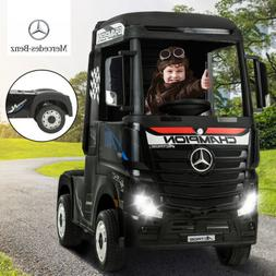 12V Electric Ride on Cars for Kids Truck Mercedes-Benz Actro
