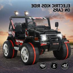 12V Jeep Electric Ride-On Car For Children Parent Control Ba