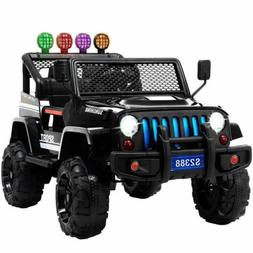 12V Kids Ride on Car Jeep Wrangler Toys Electric Battery w/