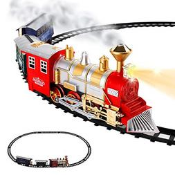 13 Piece Best Classic Toy Electric Train Set Real Smoke And