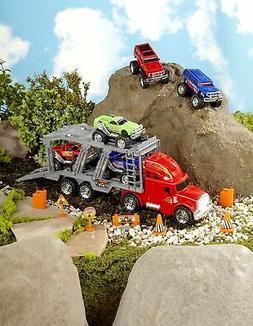 14-Pc. Monster Truck Hauler Playset - Toy Car Set for Kids