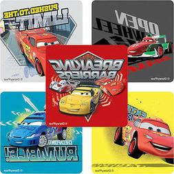 15 Disney Cars Speed Circuit Stickers Party Favors Lightning