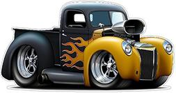 1940 Ford Flames WALL DECAL 2ft long Colors Sport Classic Ca