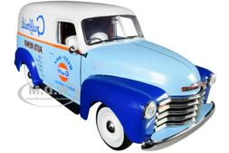 """1948 CHEVROLET PANEL DELIVERY TRUCK """"GULF"""" 1/18 DIECAST CAR"""