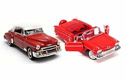 1950s Chevy Bundle: 1950 Bel Air with 1958 Impala - Two 1/24