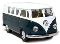"""5"""" Die-cast 1962 VW Classic Bus 1/32 Scale , Pull Back n Go"""