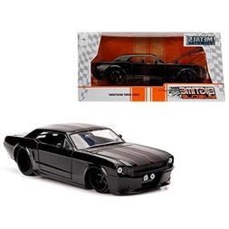 1965 Ford Mustang Black with Matte Black Stripes 1/24 Diecas