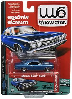 1967 Chevy Chevelle SS, Marina Blue - Auto World AW64132/24A