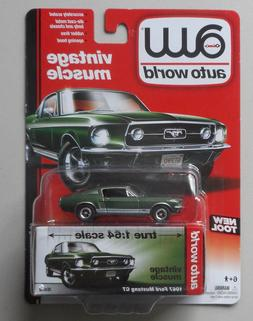 1967 Green Ford Mustang GT AUTO WORLD DIE-CAST 1:64 CAR w BO