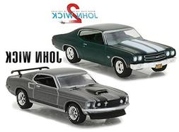 Greenlight 1969 Ford Mustang Boss 429 with 1970 Chevy Chevel