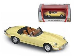 Maisto 1971 Jaguar E Type Convertible Yellow 1/43 Model Car