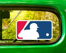 2 MLB BASEBALL LOGO DECAL Sticker Bogo For Car Window Bumper