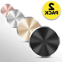 2-Pack Metal Plate Adhesive Sticker Replace For Magnetic Car