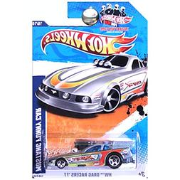 Hot Wheels 2011 Drag Racers Ford Mustang Funny Car in Silver