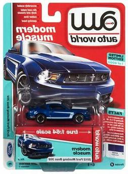 Auto World 2012 Ford Mustang Boss 302 Diecast Car 1:64