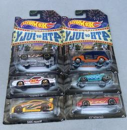 2013 HOT WHEELS 4TH OF JULY KROGER EXCLUSIVE COMPLETE SET OF