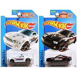 Hot Wheels 2015 HW City Sheriff Police Ford Mustang GT Conce