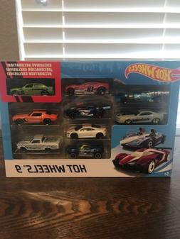 2016 Hot Wheels Assorted  9 Car Gift Pack Exclusive Decorati