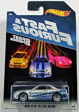 Hot Wheels 2017 Fast and Furious Nissan skyline GT-R R34 sil