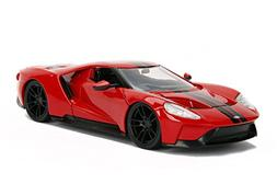 2017 Ford GT Black with Red Stripes 1/24 Diecast Model Car b