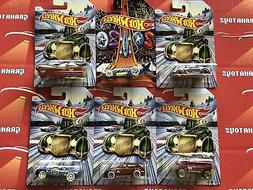 2019 Hot Wheels Christmas and New Years Assortment 6 Car Set