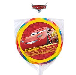 24 Disney Cars Lightning McQueen Stickers Round Labels Bag L