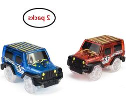 2pc Cars for Magic Tracks Replacement Vehicle Toy Race Car w
