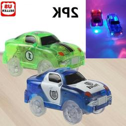2PK Cars for Magic Tracks Glow in the Dark Race track LED Li