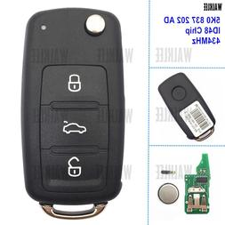 WALKLEE 3 Buttons Remote Key Fit <font><b>for</b></font> VW/