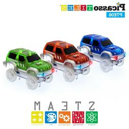 PicassoTiles 3 Cars for Race Track PTE06